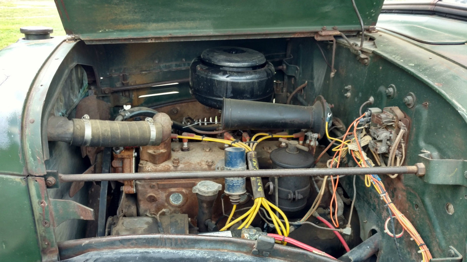 Chains Not Included 1949 Dodge Power Wagon This 230 Cubic Inch Flathead Six Runs Nice According To The Seller And It Should Have Had Around 95 Hp These Engines Were Reliable Easy Fix