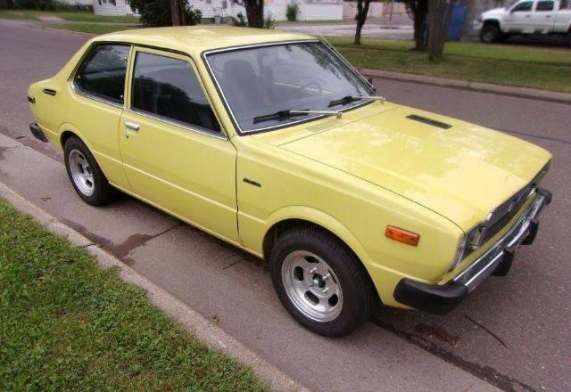 Yellow Fever 1975 Toyota Corolla