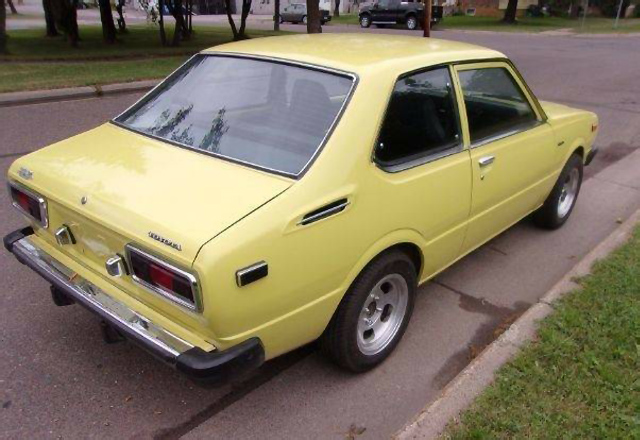 Yellow Fever 1975 Toyota Corolla