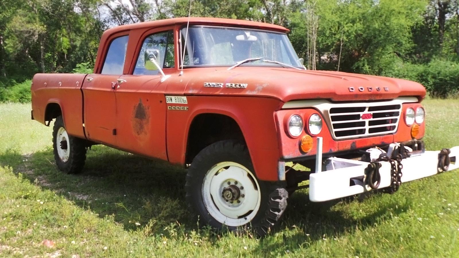 63 Power Wagon >> Tough Crew Cab 1963 Dodge Power Wagon