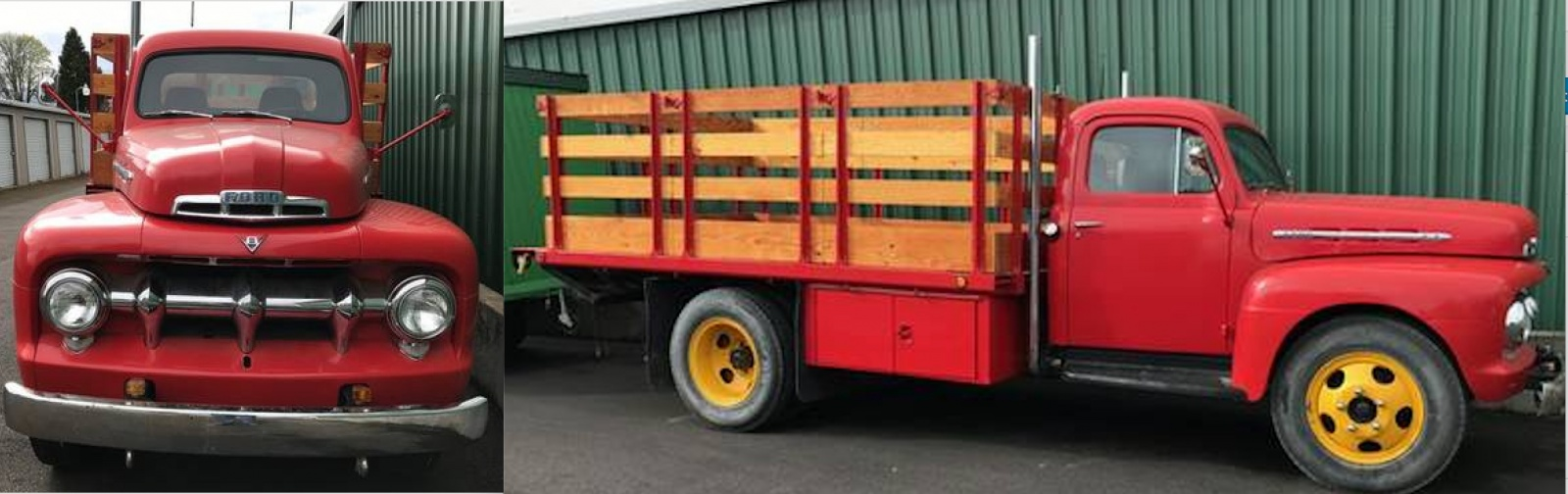 Estate Auction Model T Ford F5 And 1952 Federal 1951 Dump Trucks Heres A Nicely Restored Stake Bed Wouldnt This Be Stylish Ride For Hauling Your Stuff To Swap Meets