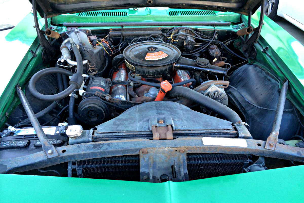 Rally Green Original 1968 Chevrolet Camaro Engine Wiring Diagram On Abit Numbers Matching 327 V8 Backed By An Automatic Transmission What Luck That This Beautiful Has Air Conditioning The Bay Is A Bit Dingy