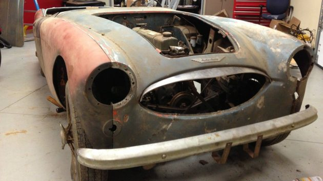 Stored 40 Years: 1957 Austin Healey 100-6