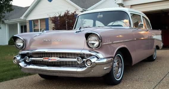 It 39 s shiny 1957 chevrolet 210 2 door post for 1957 chevrolet 2 door post