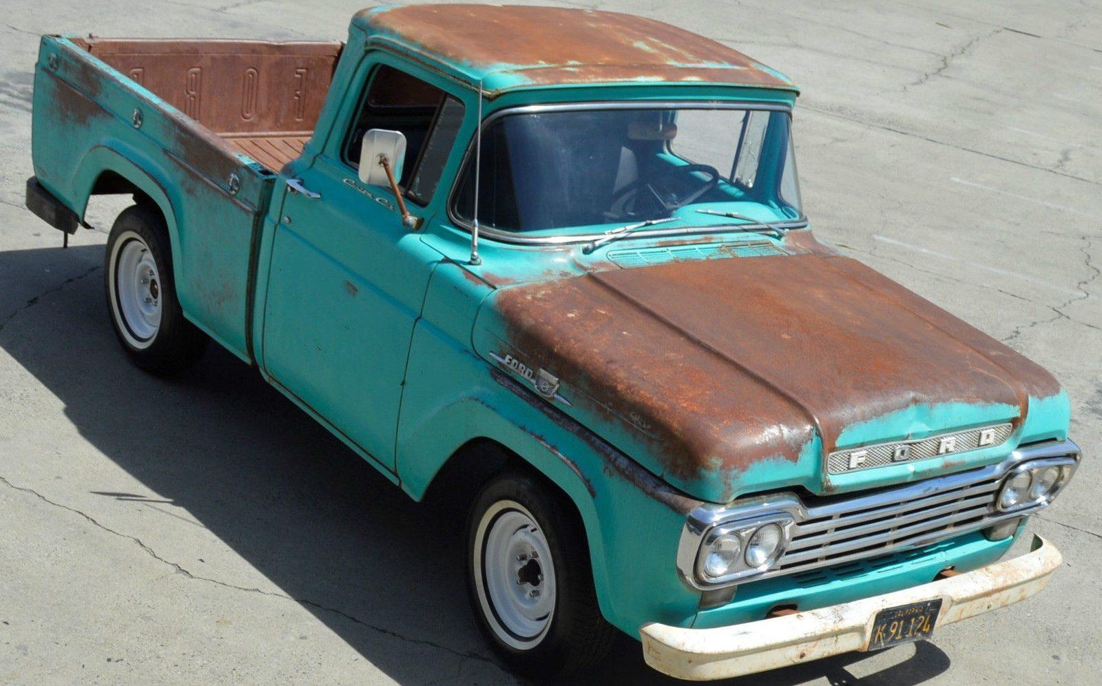 good old truck 1959 ford f 100 short bed. Black Bedroom Furniture Sets. Home Design Ideas