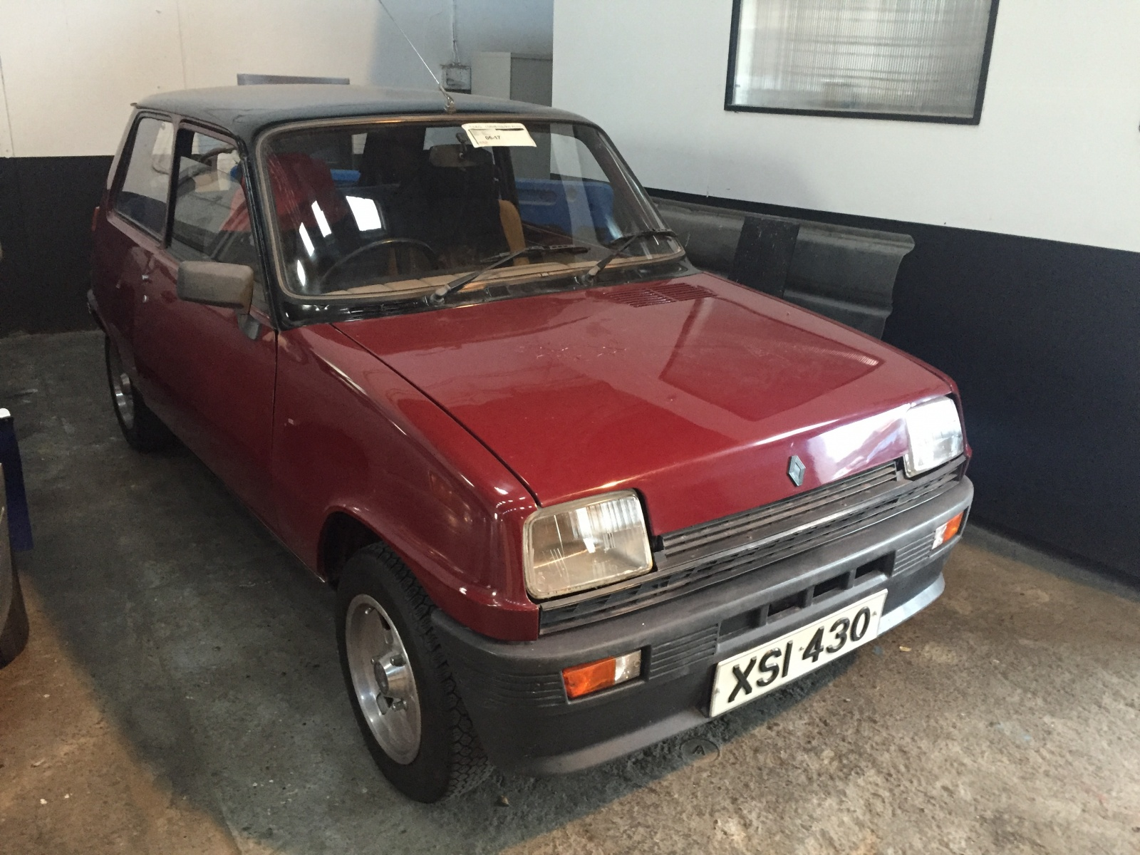 restored red r5: 1978 renault le car