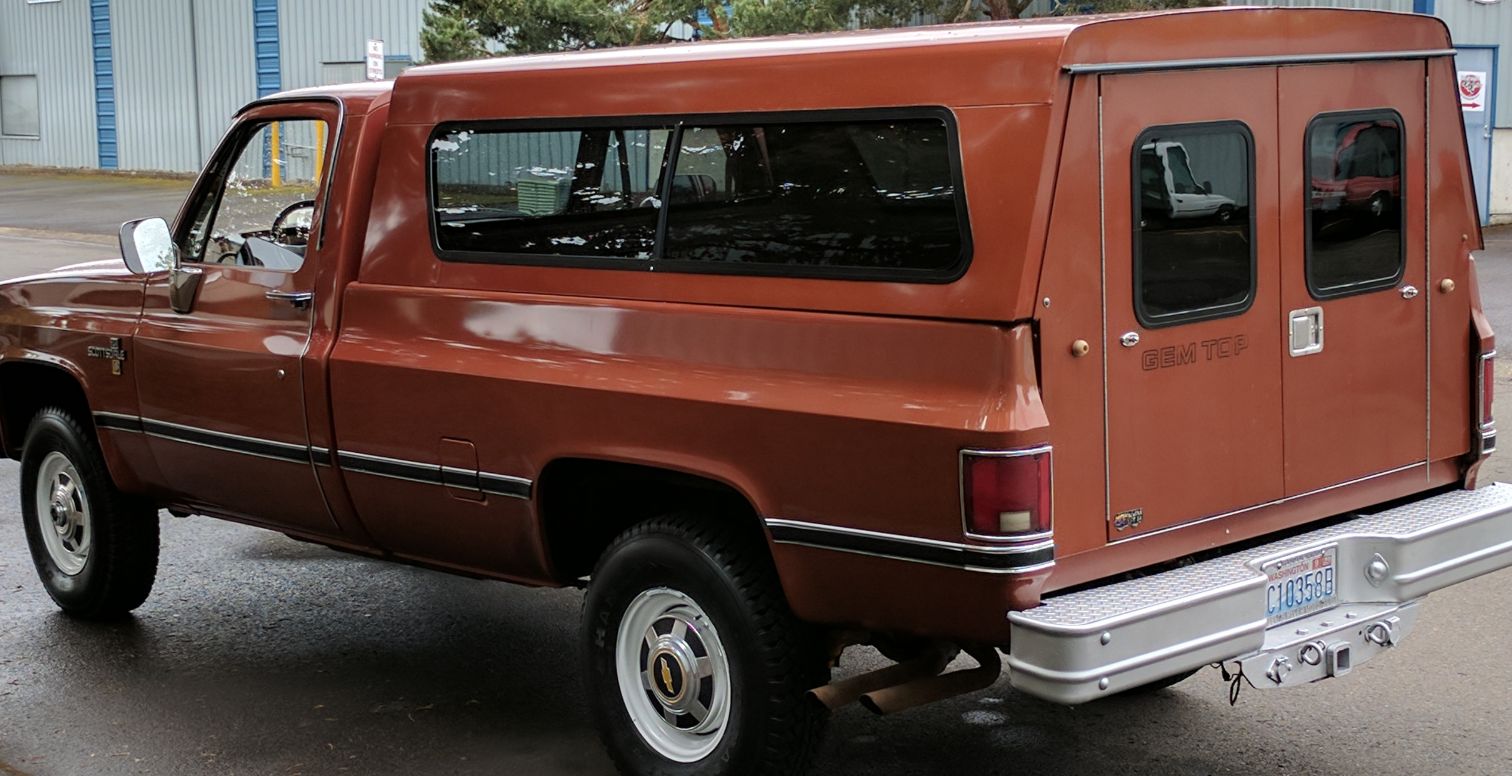 The double-door rear canopy is painted to match and the original tailgate has been carefully crated and stored since new. You donu0027t see canopies like this ... & 25K Mile Survivor: 1987 Chevy C/K Scottsdale