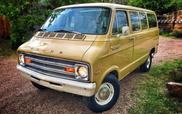 Wild Shag Carpet: 1974 Dodge Sportsman Van
