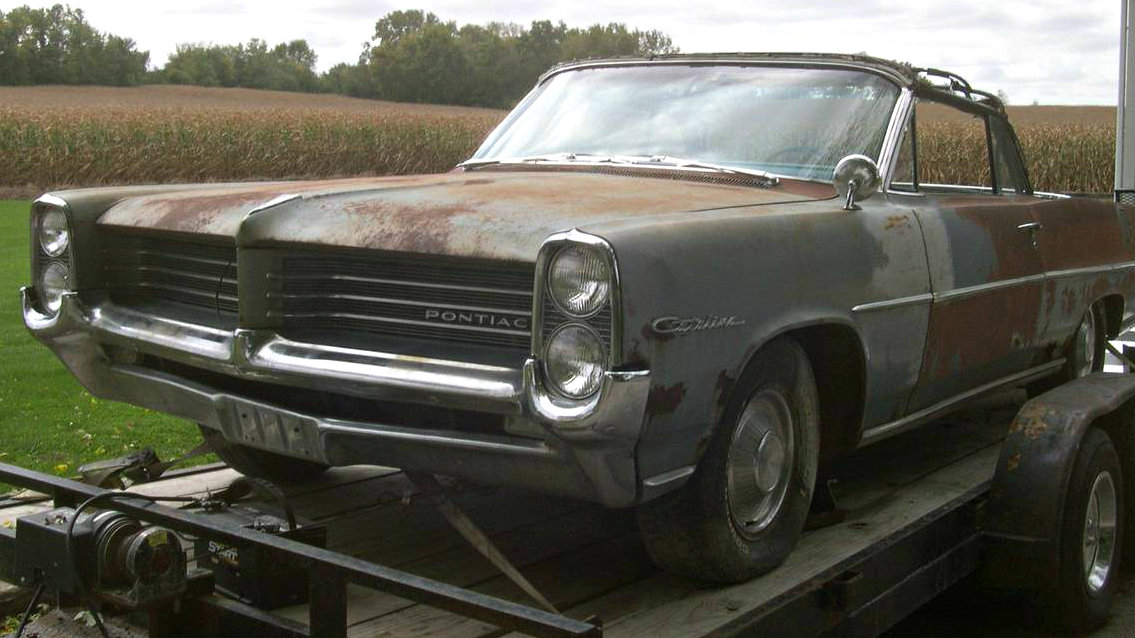 V8 4 Speed Drop Top 1964 Pontiac Catalina Convertible