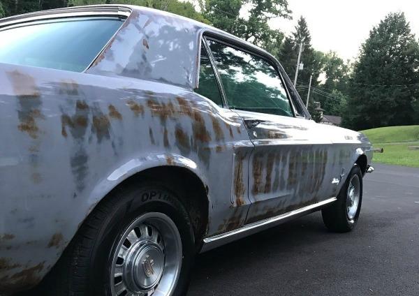 Shiny Patina 1968 Ford Mustang