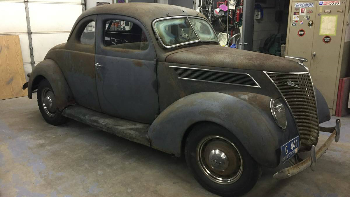 New England Barn Find 1937 Ford Coupe Deluxe