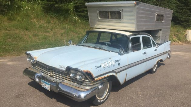 1959 Plymouth Fury/Leichner Camper Combo