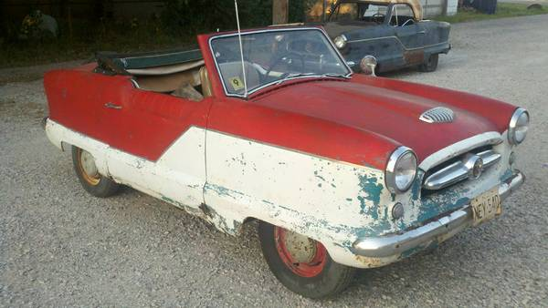 Multi colored 1954 nash metropolitan convertible for Red barn motors austin