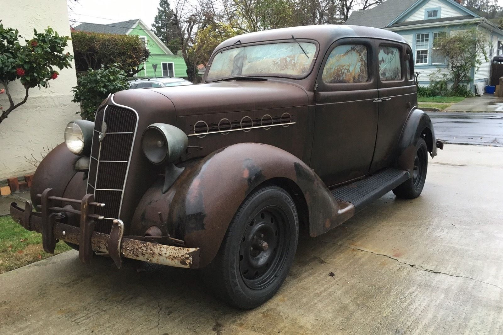 project plymouth  1935 plymouth sedan barn find