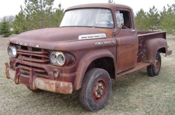 dry western original 1958 dodge power wagon 4x4. Black Bedroom Furniture Sets. Home Design Ideas