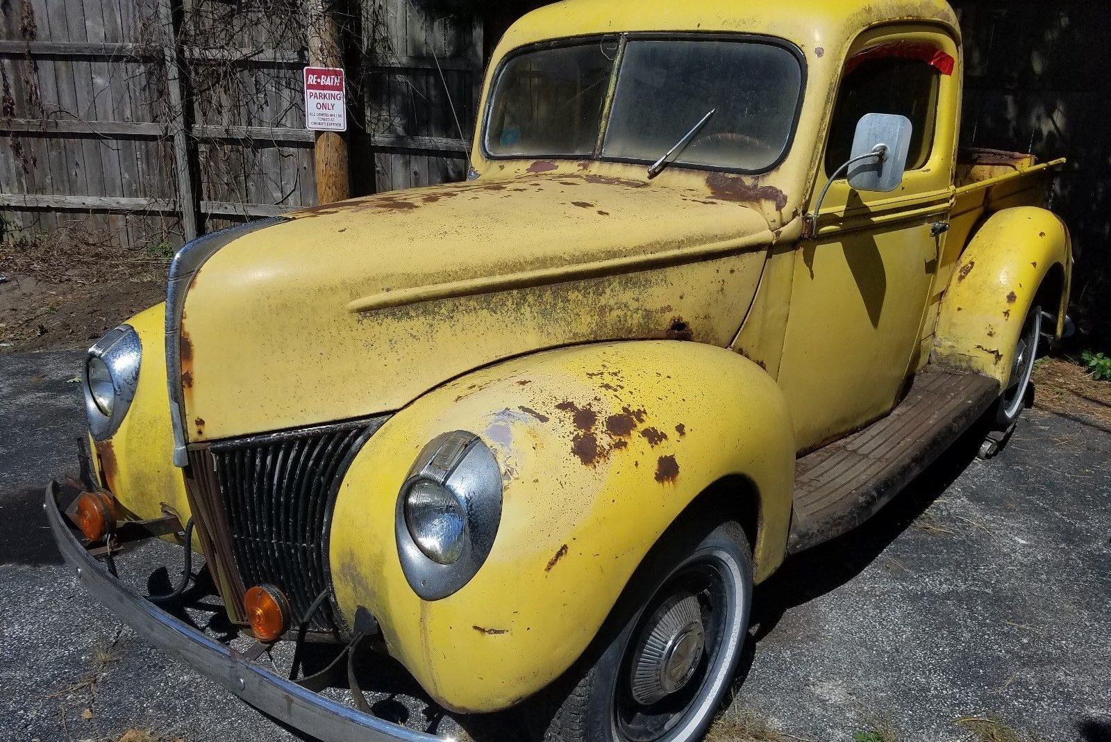 one owner barn find 1940 ford pickup. Black Bedroom Furniture Sets. Home Design Ideas