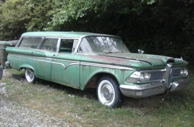 Personality Goes A Long Way: 1959 Edsel Villager Wagon