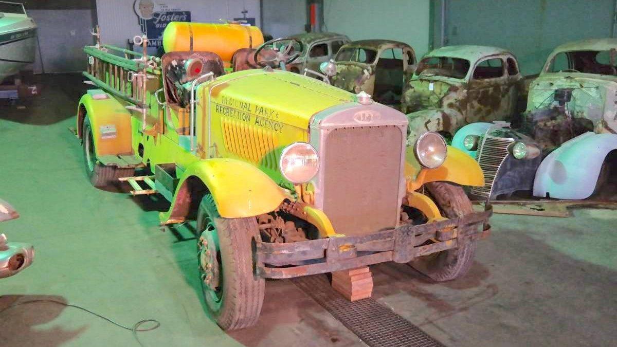 Does Not Run: 1930 Mack Fire Truck