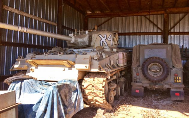 A Literal Tank In The Barn