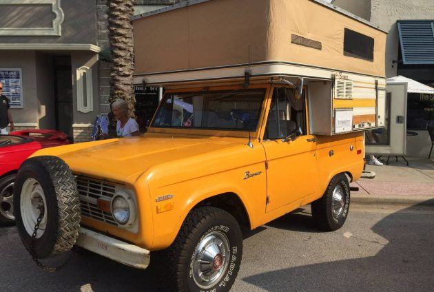 1970 Ford Bronco with Pop-up Camper