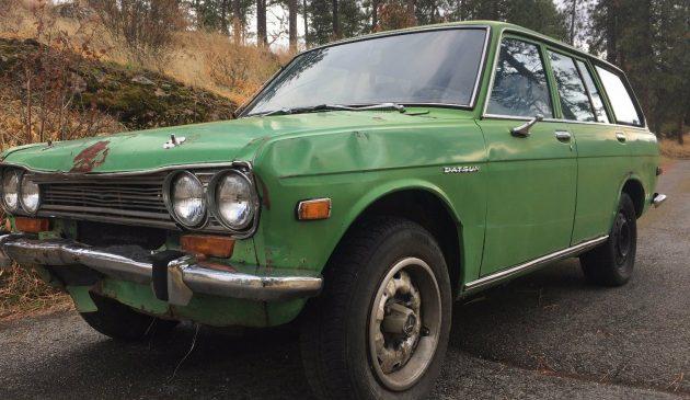 510 wagon 1 e1508295859632 630x365 sitting since '84 1972 datsun 510 wagon datsun 510 wiring harness at creativeand.co