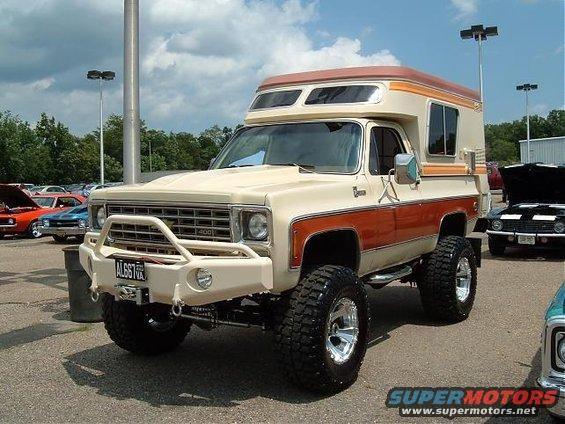 Topless Outdoorsman: 1976 Chevrolet Blazer Chalet Camper