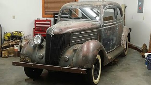 BF EXCLUSIVE 1936 Ford Deluxe Flatback Sedan