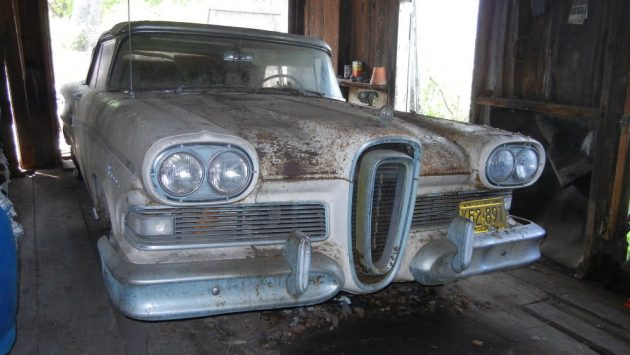Genuine Barn Find: 1958 Edsel Pacer Convertible