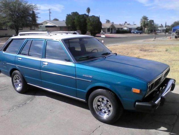 Blue Violet 1978 Datsun 510 Wagon