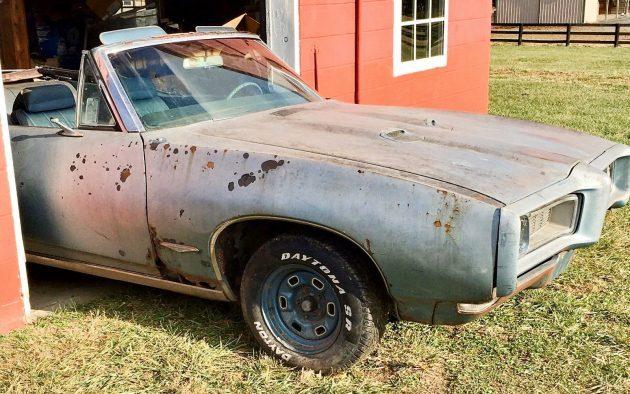 1968 Pontiac GTO Convertible Barn Find!