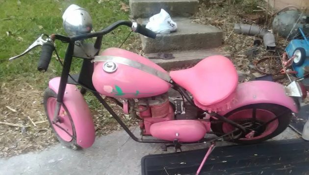 Bright Pink Pony: 1950 Mustang Scooter