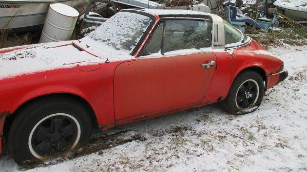 1975 Porsche 911 Targa Snow Find
