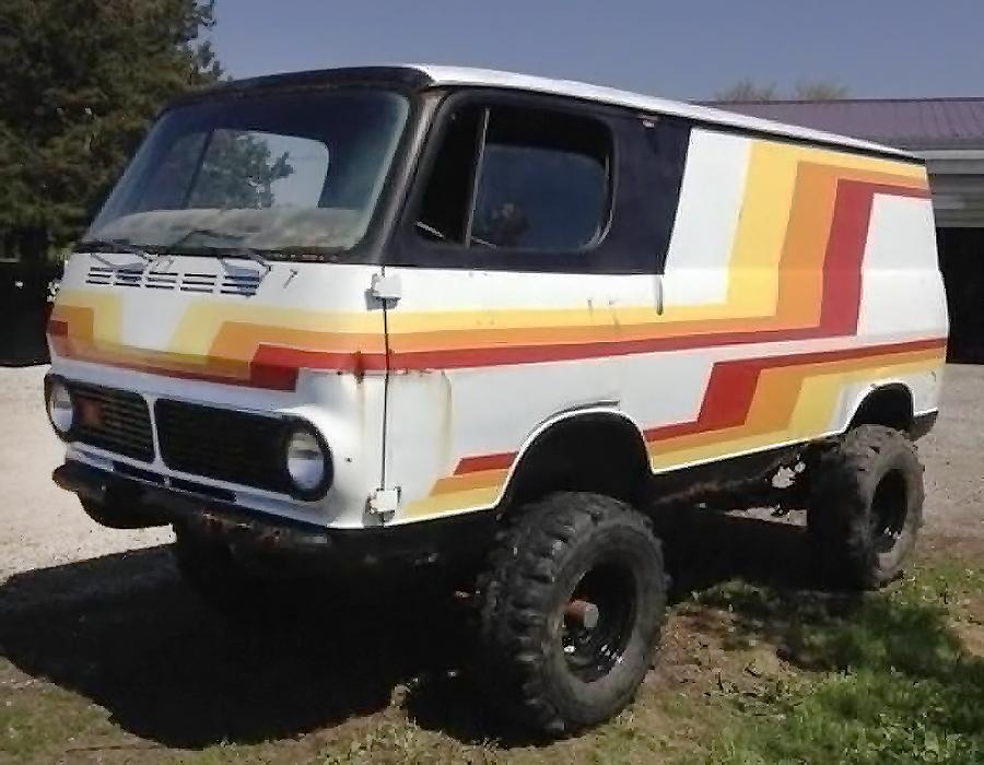 raised bed 1967 gmc 4x4 handi van. Black Bedroom Furniture Sets. Home Design Ideas
