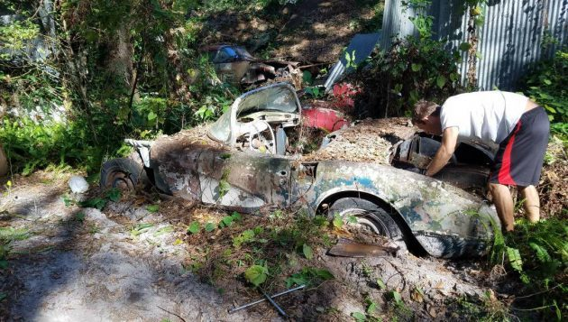 It's Back Here Somewhere: 1958 Chevy Corvette