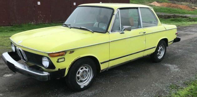 Rare Golf Yellow: 1976 BMW 2002