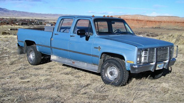 bigger is better 1983 chevrolet k30 crew cab rh barnfinds com Chevy Silverado Regular Cab 1983 chevy truck crew cab for sale