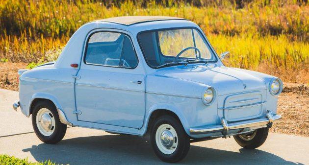 Baby Blue 1959 Vespa 400 Micro Car