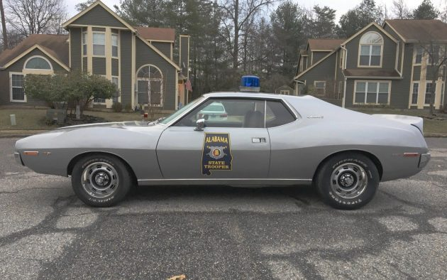 Unique Pursuit: Retired 1972 AMC Javelin State Trooper Car