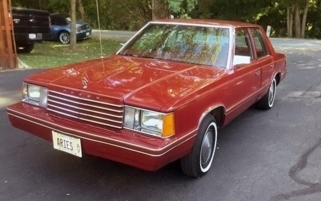 5 500 All Original K Car 1983 Dodge Aries