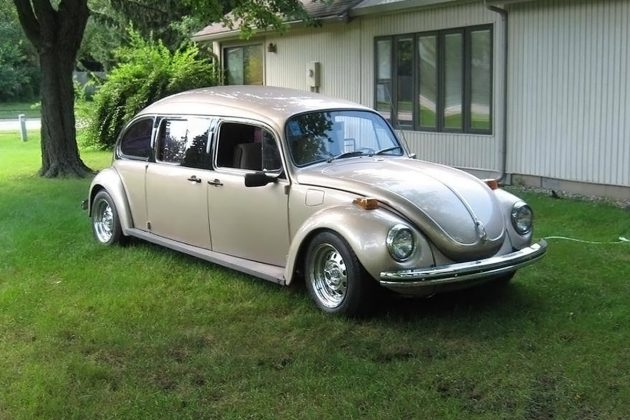 sweet stretch  volkswagen beetle limo