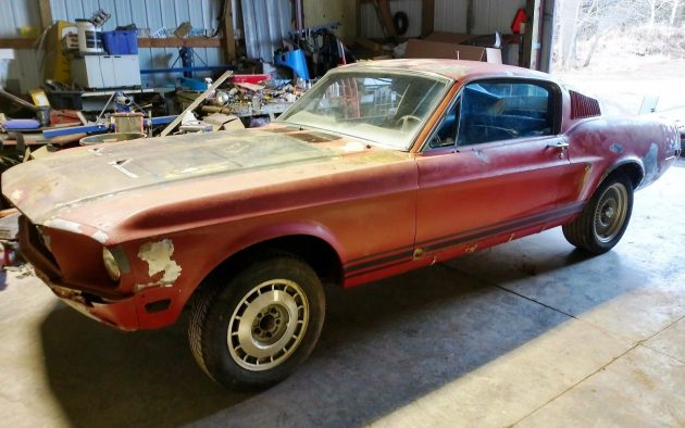 Wisconsin Barn Find! 1968 Mustang Fastback Roller