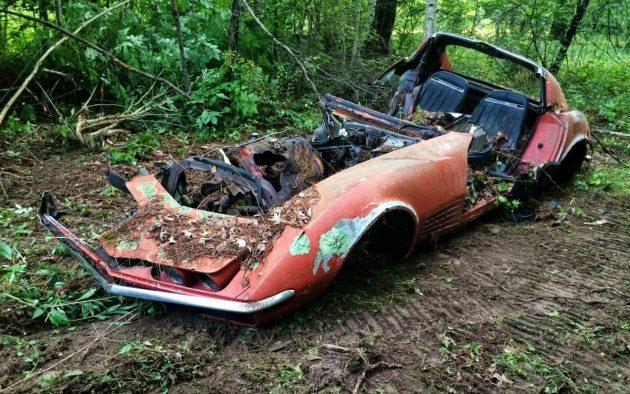 Corvwreck: Remains Of A 1970 Chevrolet Corvette