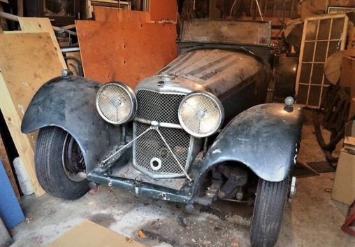 Real 1938 Jaguar SS-100 Discovered In Shed!