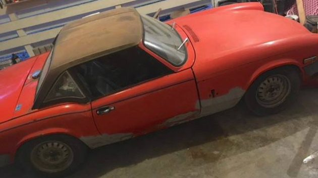 Only $1,300! 1980 Triumph Spitfire With Overdrive