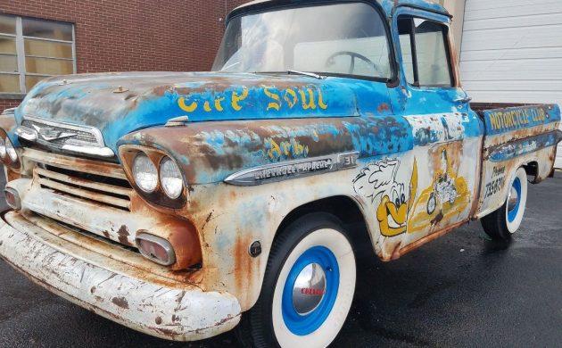 Funky Fleetside 1959 Chevrolet 3100 Apache