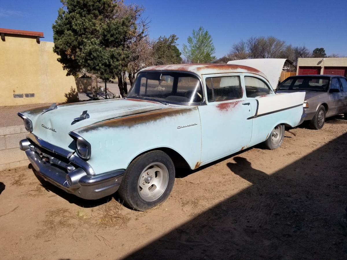 Parked 48 Years 1957 Chevrolet 150 2 Door Post