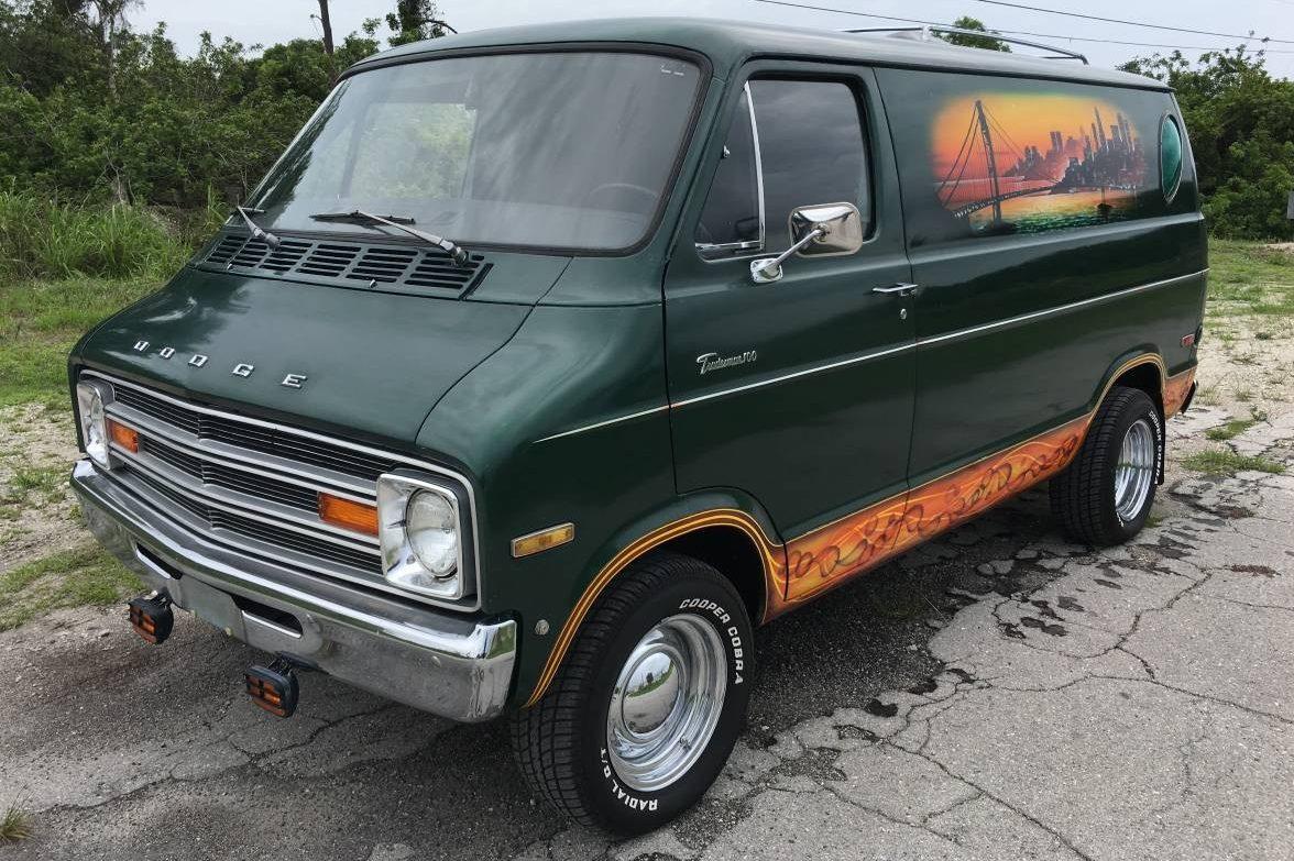 rolling time capsule  dodge custom van