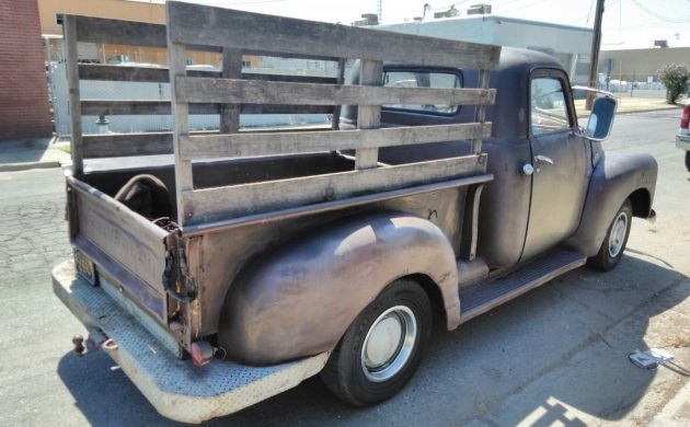 Image result for 1950 chevy pickup with wooden racks