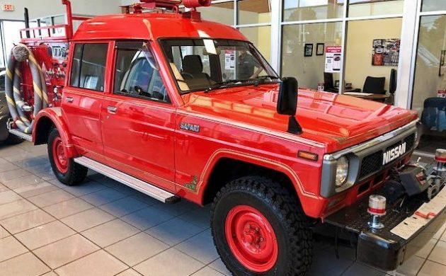 Exclusive: 1988 Nissan Safari Fire Truck