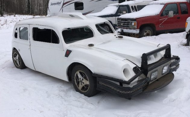 1940 Ford + Pontiac + ? = This Snow Monster!